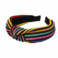 Colorful Accessories Hoop Women's Stripe Knot Hair Bands Tie Headband Hairband