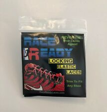 Race Ready...No Tie Locking Elastic ShoeLaces.. Run...Golf...Cycling..Black