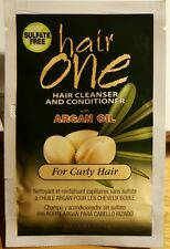 NEW 3 Packs hair one Argan Oil Hair Cleanser & Conditioner for Curly Hair (18ml)