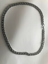 UK Seller!! 60cm/24 Inch Silver Curb Link Cuban Chains Available