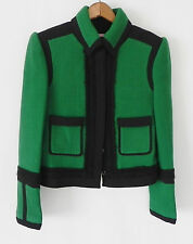 New Pink Tartan Blazer/Jacket Green and Black Wool Size S/M Tweed Texture