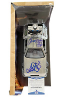 CHRISTOPHER LLOYD MICHAEL J FOX SIGNED DELOREAN 1:24 DIECAST CAR - BTTF BECKETT