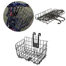 Foldable Bicycle Front Bike Basket Rear Extra Storage Baskets Handlebar Bag