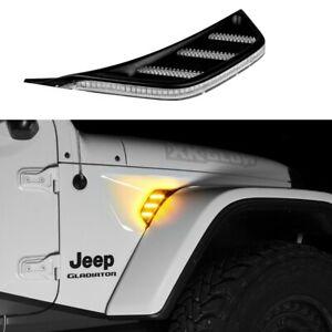 XKGlow Amber Jeep JL & JT Fender Vent Turn Signal & Running Light