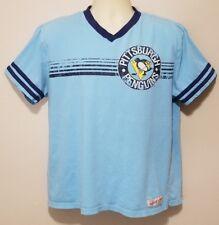 Mitchell Ness Retro Style T Shirt Pittsburgh Penguins NHL Hockey XL EUC