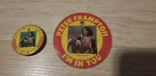 Peter Frampton 1977 I'm In You Tour Album Original Stickback Button Pin & Decal