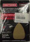 Craftsman 28095 120 Grit Mouse Velcro Sandpaper 5-5packs 25 Sheets