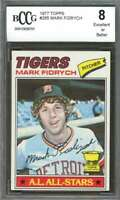 1977 topps #265 MARK FIDRYCH detroit tigers rookie card BGS BCCG 8