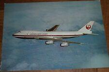 Postcard of Japan Airlines (JAL) Boeing 747