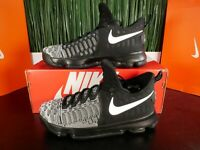 Nike KD 9 IX Mens Basketball Shoes Oreo Black Mic Drop 843392 010 Size 9.5