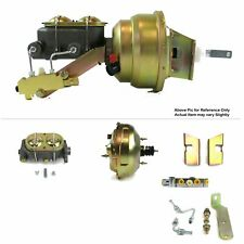 "1960-62 Chevy Truck FW Mount Power 11"" Dual Brake Booster Kit Disc/Disc LS SWAP"