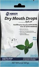 Hager Pharma Dry Mouth Drops with Xylitol, Mint 2 oz (Pack of 2)