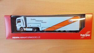"Herpa 311335 - 1/87 Man Tgx XXL Renntransporter-Sattelzug "" Gulf Huile """
