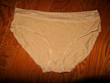 Xl Victoria's Secret Vs 100% Cotton Vintage Beige Brief Lace Top Nwt New