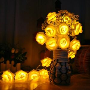 1.5M 10 Led AA Battery  Rose String  Lights  Home Table Garden Party  Decor