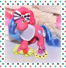 ❤️My Little Pony MLP G1 Vtg BABY BROTHER Countdown Rocket BANDANA Playtime❤️