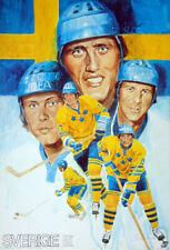 Canada Cup 1976 Hockey TEAM SWEDEN SVERIGE 1976 Original Team POSTER - Salming +