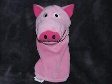 IKEA Hand Puppet Pink PIG Plush Klappar Lantlig Pretend Play ! GUC Toy