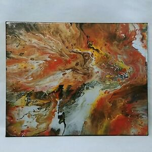 Contemporary Abstract Painting Original Art Liquid Galaxies by Kim Collins