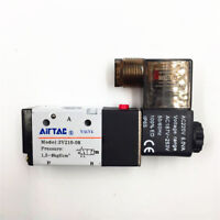 "3V210-08 3 Way 2 Position 1/4"" Port Airtac Pneumatic Air Solenoid Valve AC220V"