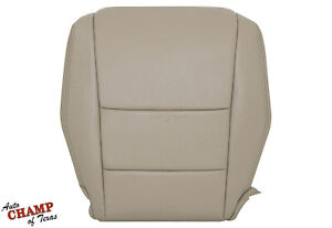 2008-2013 Honda Accord 4-DOOR -Driver Side Bottom Genuine Leather Seat Cover Tan