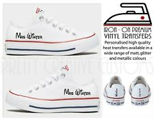 Personalised Disney Wedding iron On transfers For converse bridal shoes