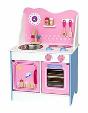 Viga Wooden Pink and Blue Fairy Kitchen with Accessories - Kids/Children's Toy