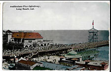 Auditorium- Pier-Spiralway, Long Beach, California, used but not postally