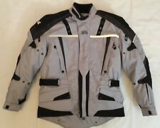 Tourmaster Transition Gray Hi-Viz Padded Motorcycle Jacket Men's Medium / Sz 42