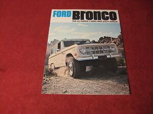 1968 Ford Bronco Pickup Truck Sales Brochure Booklet Catalog Book Old