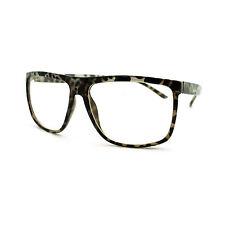 Oversized Clear Lens Glasses Nerdy Square Rectangle Eyeglasses Black Tort