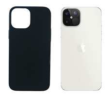 "Funda Carcasa Gel TPU Silicona Lisa Para Apple iPhone 12 Pro Max 5G 6.7"" Negro"