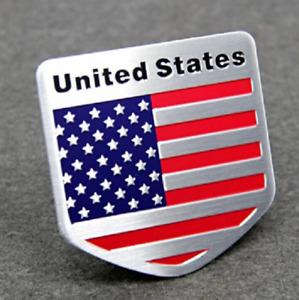 USA American Flag  Aluminium Alloy Badge Decal Emblem Badge Sticker