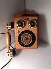 Vintage Spirit of St. Louis Radio WOODEN BELL RINGER WALL PHONE