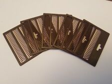 """V"" BROWN Boilie Bait Hair Stops 5 CARDS Carp Bream Tench Barbel Coarse Fishing"