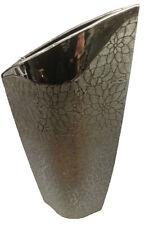 Dekovase Vase Blumenvase 40 cm Hoch Deko Modern Design Keramik silber