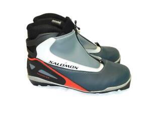 Salomon 12.5 EU 47 Escape 7 Pilot PIL SNS Cross Country Ski Boots Gray Red Black