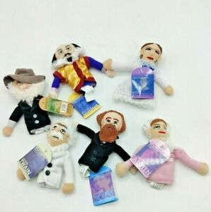 Lot of 6 Finger Puppet Fridge Magnets New with Tags (M1)