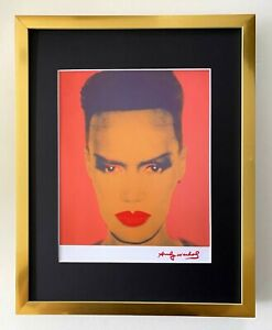 ANDY WARHOL + RARE 1984 SIGNED GRACE JONES PRINT MATTED TO BE FRAMED 11X14