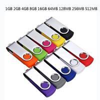 16G 8G 4G 2G 1G USB 2.0 Swivel Metal Flash Drive Memory Stick U Disk Storage MT