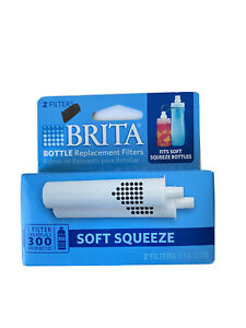 Brita Soft Squeeze Replacement Water Bottle Filters - 2 Filters - NEW SEALED