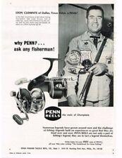 1966 Penn Fishing Reels Spinning Casting Leon Clements, Dallas TX  Vtg Print Ad