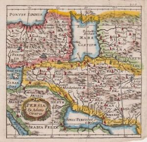1661 Fine Cluver Map of Persia, Middle East