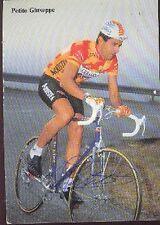 GIUSEPPE PETITO cyclisme carte dedicacée ARIOSTEA 1989