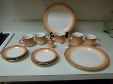 Mikasa Fashion Tones ~ Smoked Salmon ~ 15 Pcs ~ Plates Cups