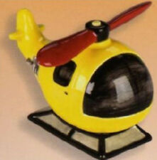 """Ceramic Bisque Ready to Paint Helicopter Bank 6"""" long"""