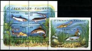 2006. Uzbekistan. FISH. M/sheet + s/sheet. MNH. Sc.451-452
