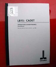 Okuma Lb15 Ii Cadet Operation & Maintenance Manual: Pub No 3747-E-R1 (Inv.12276)