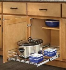 Kitchen Dish Rack Storage Pull Out Cabinet Basket Organizer 1-Tier Pantry Shelf