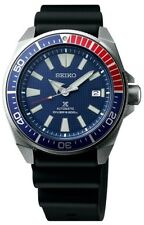 NEW SEIKO PROSPEX TURTLE AUTOMATIC DIVERS SAMURAI EDITION BLUE RED BEZEL SRPB53